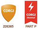 Corgi and Part P Registered Logos
